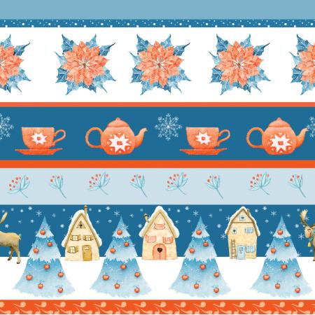 Fabric 18825 | zimowe paski 1 small