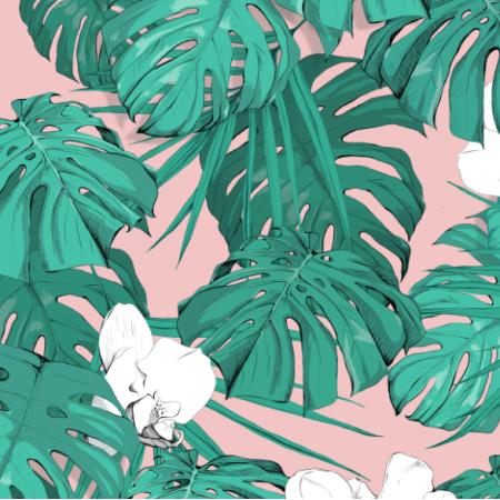 Tkanina 18863 | Tropical blossom