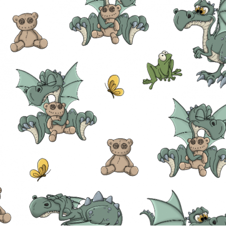 Fabric 18912 | LITTLE DRAGON COLOR (STANDARD VERSION)0