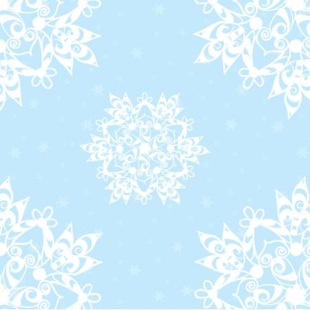 18920 | Sniezynki baby blue xl