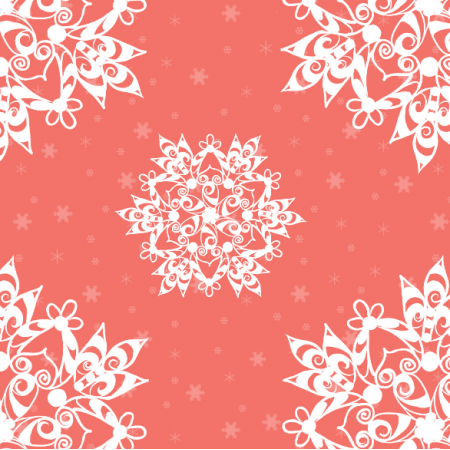 Tkanina 18924 | sniezynki coral xl