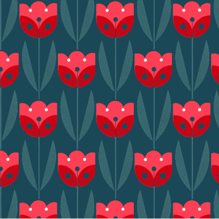 Fabric 2049 | tulips dark
