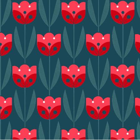Fabric 2049 | tulips dark