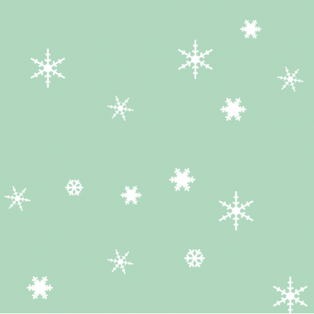 Fabric 18934 | sniezynki mix minty xl