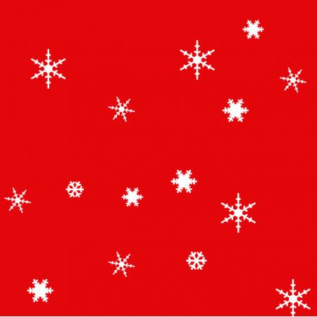 Fabric 18936 | sniezynki mix red xl