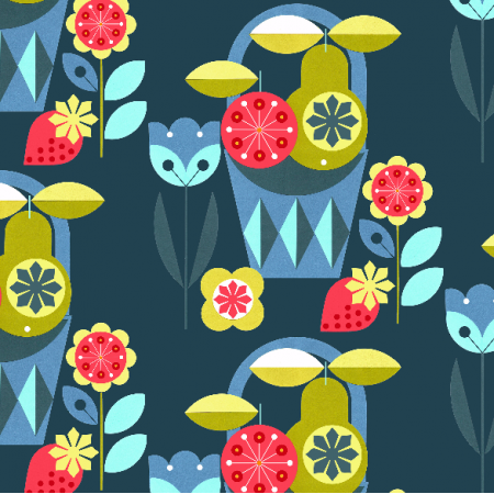 Fabric 2051 | flowers & fruits