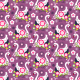 Fabric 2053 | violet swans