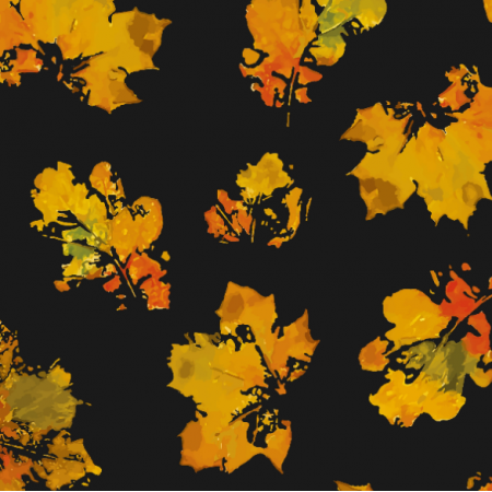 Tkanina 19003 | leaves autumn big black
