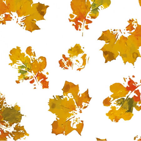 Fabric 19004 | leaves autumn big white