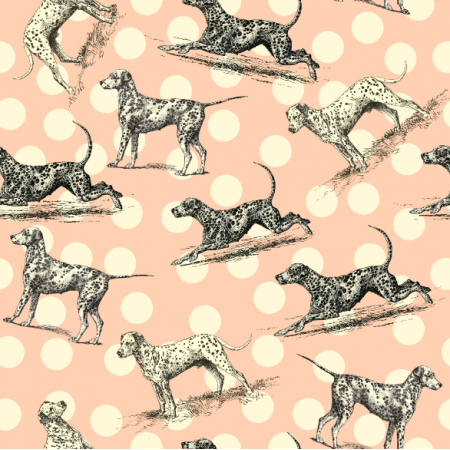 Tkanina 19007 | PSY DALMATYŃCZYKI - Dalmatian Dogs