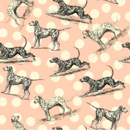 Fabric 19007 | PSY DALMATYŃCZYKI - Dalmatian Dogs