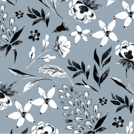 Fabric 19010 | MONOCHROME  Floral
