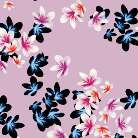 Tkanina 19011   Pink tiny plumeria flowers