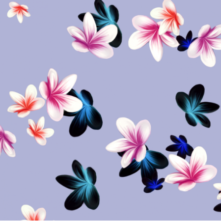 19012 | tiny plumeria flowers | BLUE