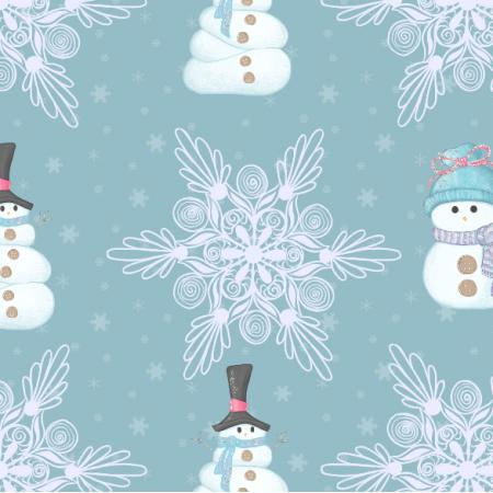 Fabric 19014 | balwanki i sniezki blue - xl