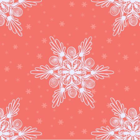 Tkanina 19024 | sniezynki coral xl