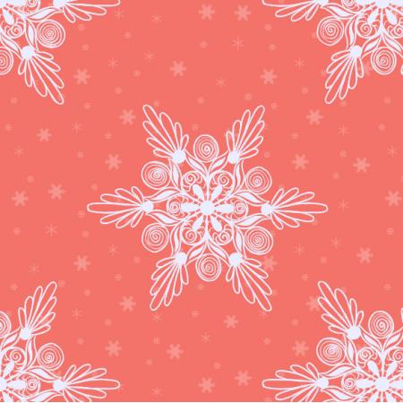 Fabric 19024 | sniezynki coral xl