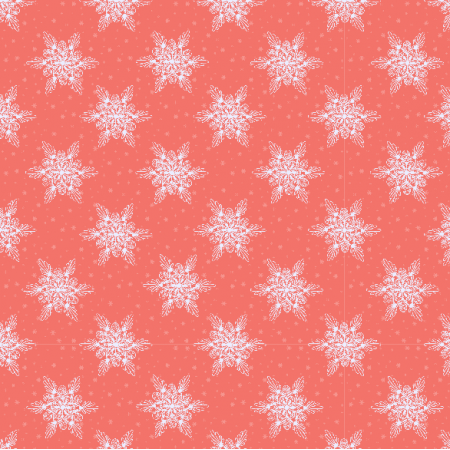 Fabric 19026 | sniezynki coral small
