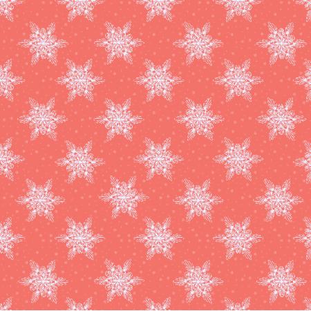 Tkanina 19026 | sniezynki coral small