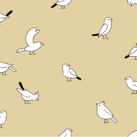 Fabric 19084 | Białe ptaszki