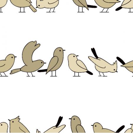 Fabric 19085 | Ptaki w kolejce