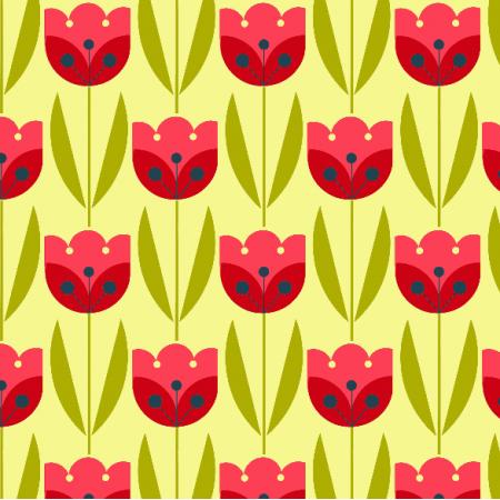 Tkanina 2065 | bright tulips