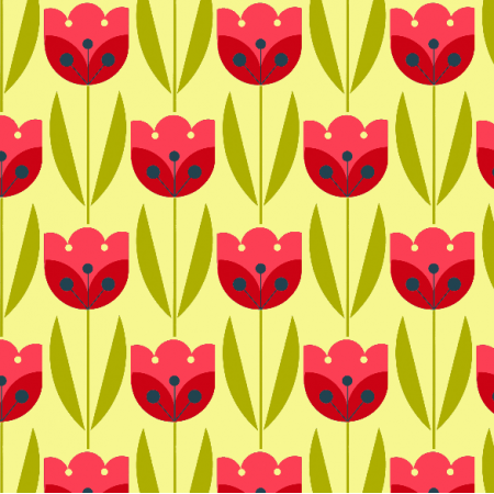 Fabric 2065 | bright tulips