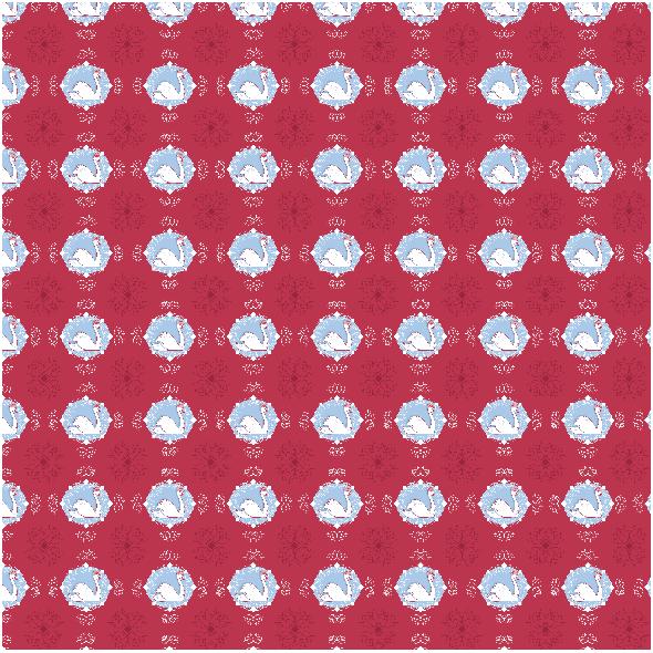 Fabric 19105 | KAMEA ŁABĘDZIE z LILIAMI