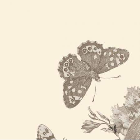 Fabric 19198 | VANITAS - GOTYCKI MOTYW NA APASZKĘ / PODUSZKĘ KREMOWE TŁO