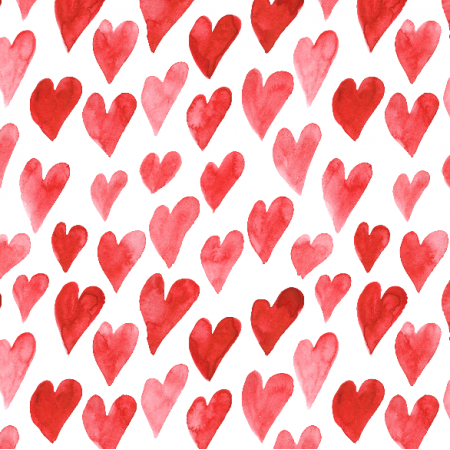 Fabric 19228 | Watercolor hearts seamless pattern