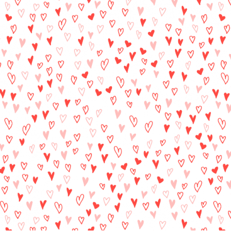 Fabric 19229 | pink and red Hand drawn hearts seamless pattern