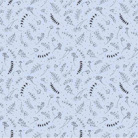 Fabric 19252 | łąka niebieski