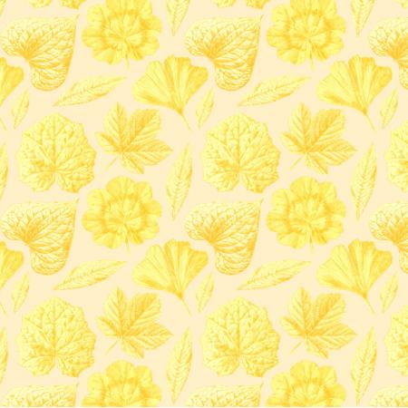 Fabric 19291 | ŻÓŁTE LISTKI - YELLOW LEAVES
