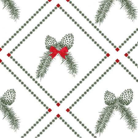 Tkanina 19327 | Christmas pine W