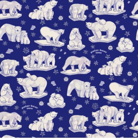 Fabric 19409 | Niedźwiadki polarne