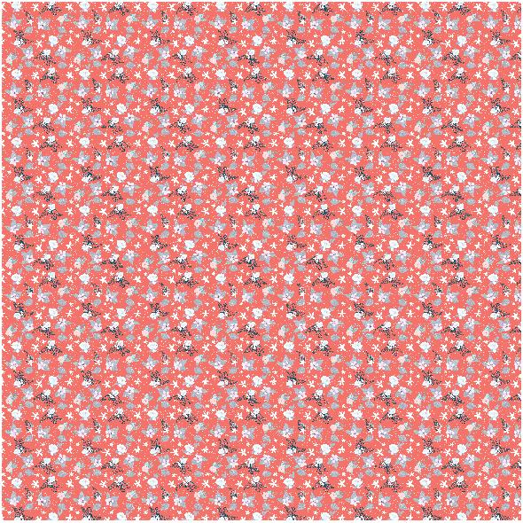 Tkanina 19455   zimowa kompozycja coral small