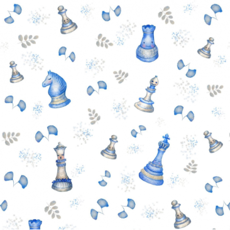 Fabric 19485   szachy