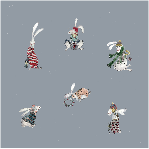 Fabric 19487 | CHRISTMAS RABBIT
