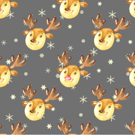19493 | Cute reindeers on grey Large