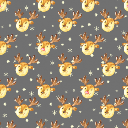 19494 | Cute reindeers on grey small