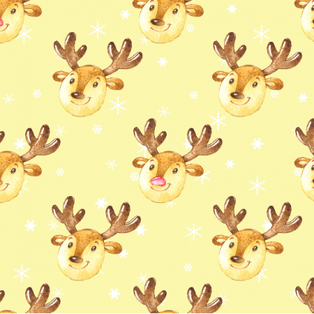 19499 | Cute reindeers on yellow large