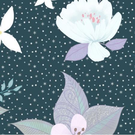 Fabric 19501 | zimowa kompozycja dark teal xl