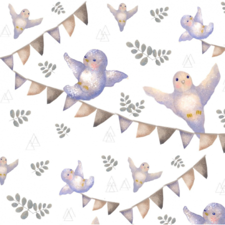 19546 | ptaszki lila