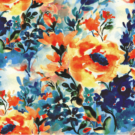 Fabric 19555 | FLORAL WATERCOLOR - SERIA 2
