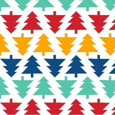 Fabric 19575 | Choinki geometryczne small