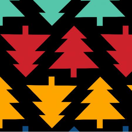 Fabric 19577 | Choinki geometryczne XL medium