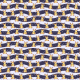 Fabric 19581 | reniferki na falach blue small