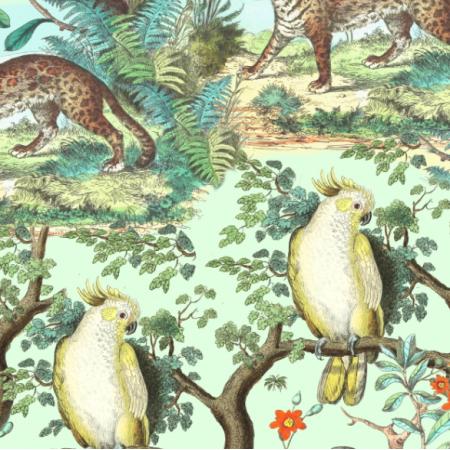 Fabric 19596 | TROPIKALNA DŻUNGLA - ZIELONE TŁO