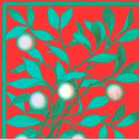 19598 | MERRY CHRISTMAS - MOTYW ŚWIąTECZNY NA CZERWONYM TLE