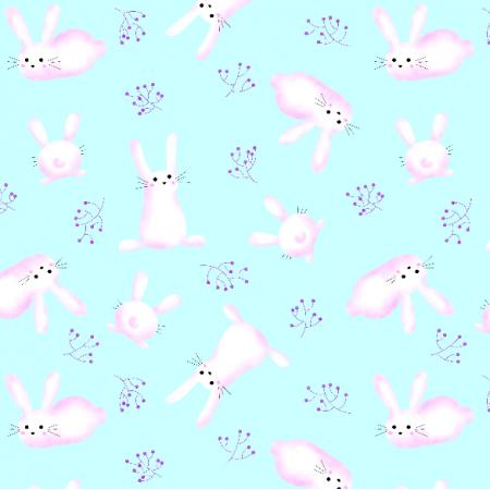 Fabric 19688 | króliki na mrozie